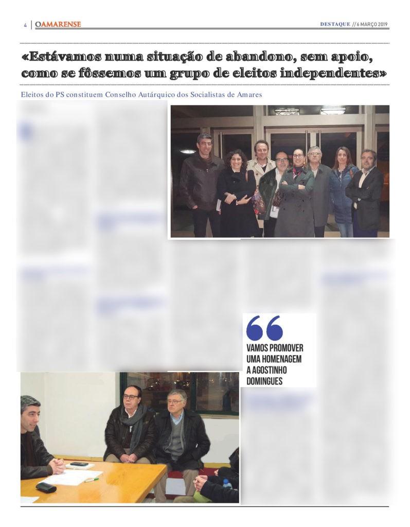 EDIÇÃO IMPRESSA - Eleitos do PS constituem Conselho Autárquico dos Socialistas de Amares