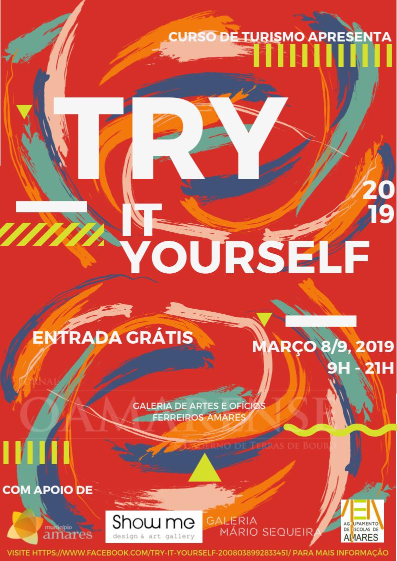 """AMARES - """"Try it yourself"""" em exposição esta sexta e sábado na Galeria de Artes e Ofícios"""