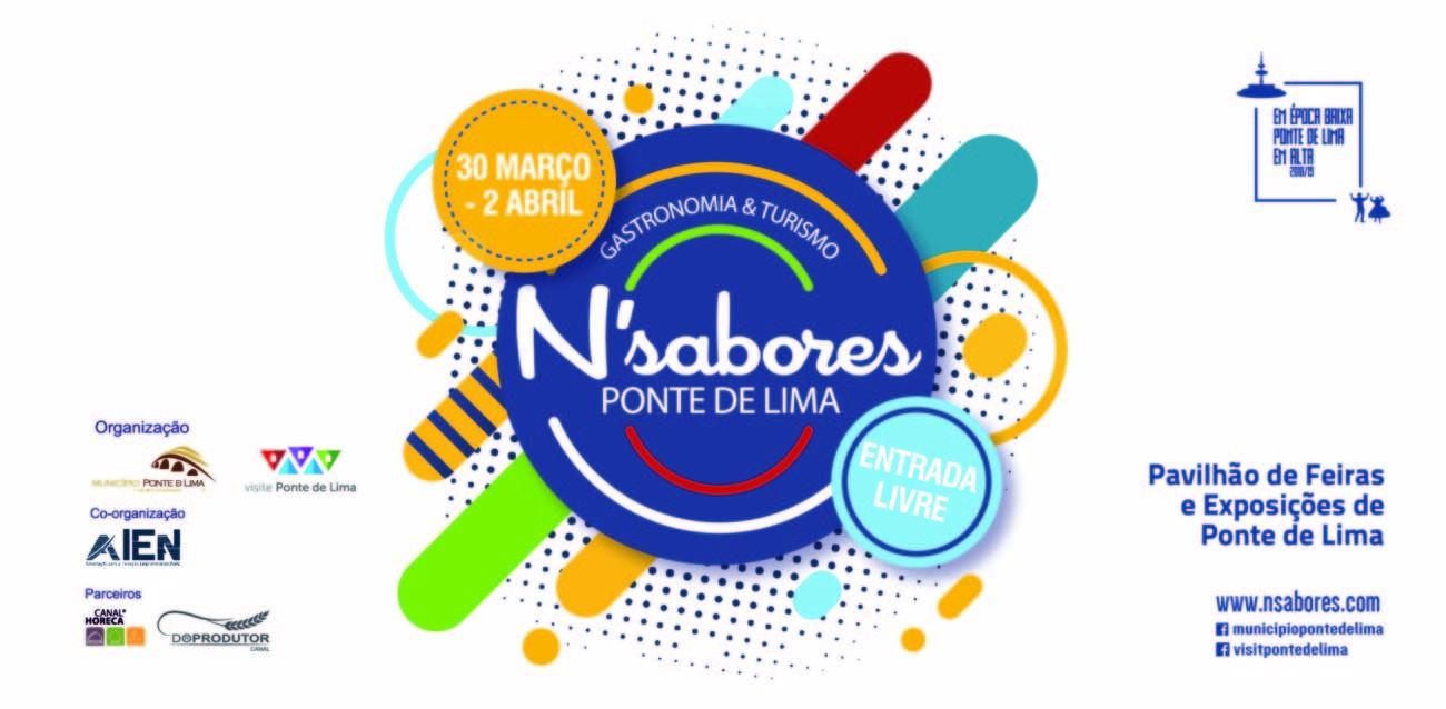 """REGIÃO - """"N'Sabores Ponte de Lima- Gastronomia e Turismo"""" este fim-de-semana no Pavilhão de Feiras e Exposições"""