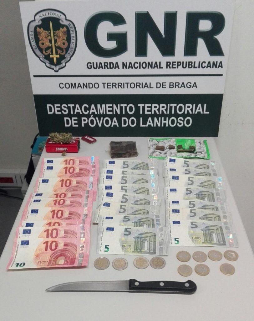 CRIME - Homem detido por tráfico de estupefacientes na Póvoa de Lanhoso