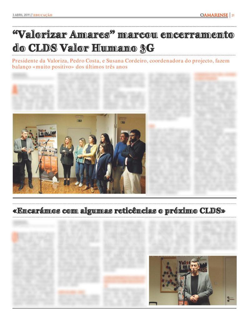 """EDIÇÃO IMPRESSA – """"Valorizar Amares"""" marcou encerramento do CLDS Valor Humano 3G"""