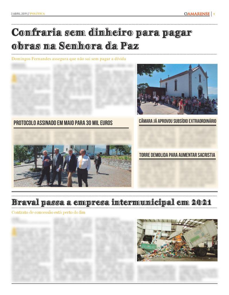 EDIÇÃO IMPRESSA - Confraria sem dinheiro para pagar obras na Senhora da Paz