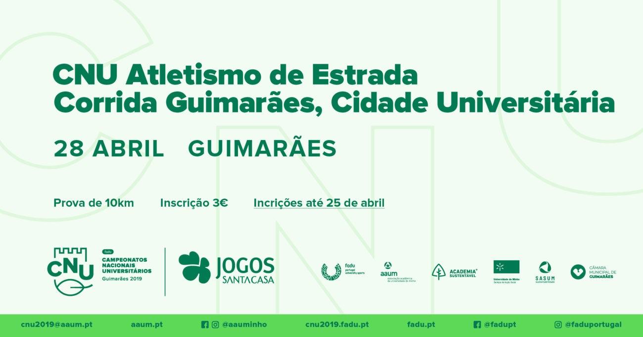 """DESPORTO - """"Corrida Guimarães, Cidade Universitária"""" corre-se a 28 de Abril"""