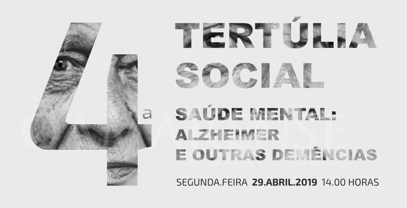"""SAÚDE -Tertúlia """"Saúde Mental: Alzheimer e outras demências"""" na Casa do Conhecimento dia 29 de Abril"""