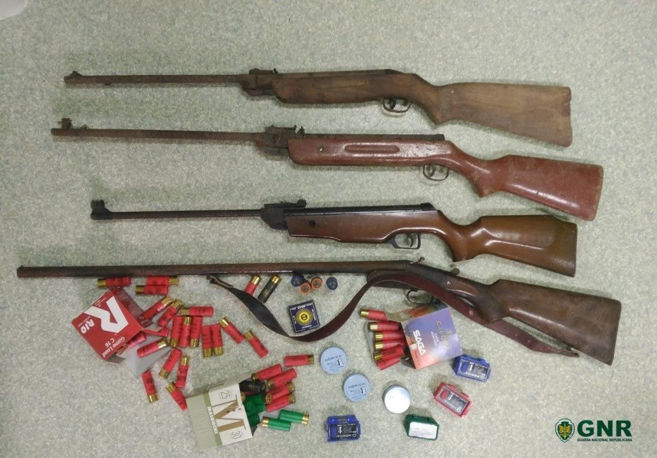 CRIME - Dois homens constituídos arguidos. Um por violência doméstica e outro por posse de armas e munições