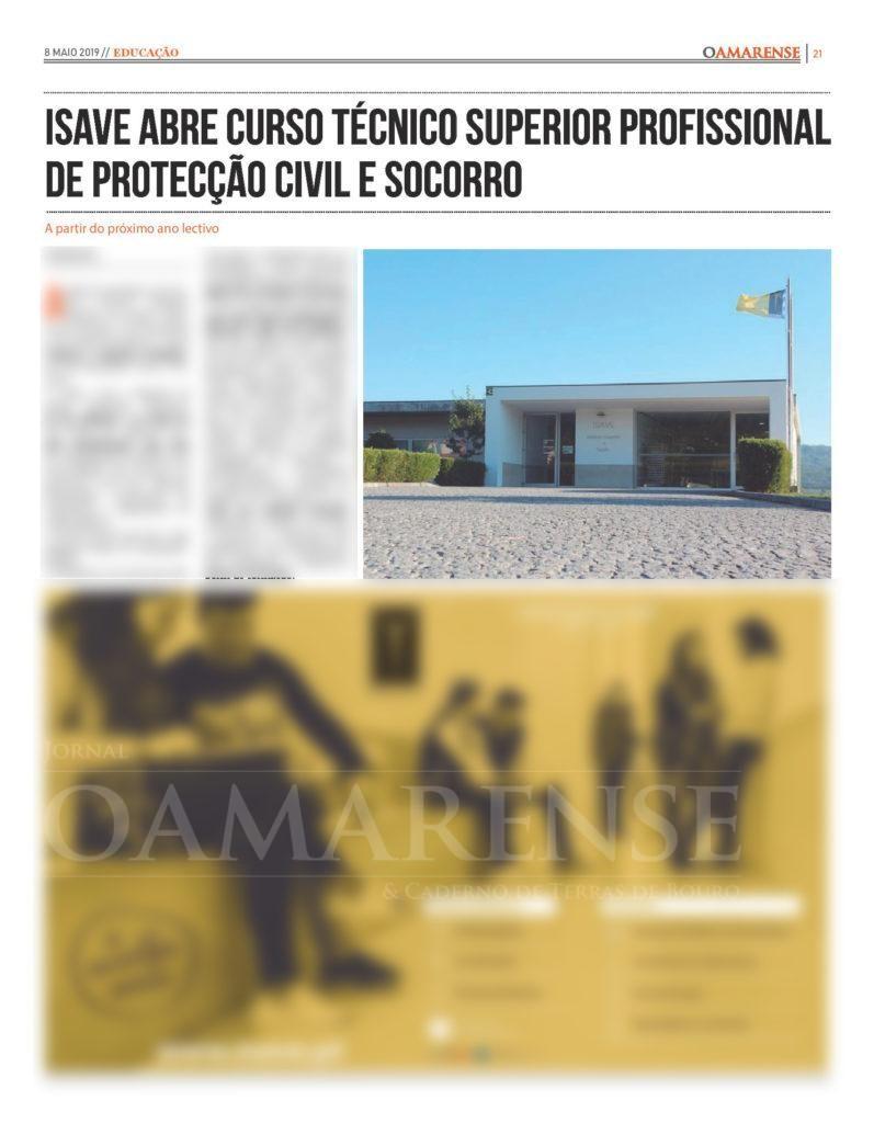 EDIÇÃO IMPRESSA – ISAVE abre curso técnico superior profissional de Protecção Civil e Socorro