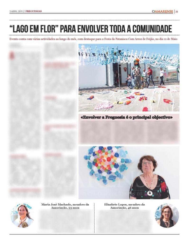 """EDIÇÃO IMPRESSA – """"Lago em Flor"""" para «envolver toda a comunidade»"""