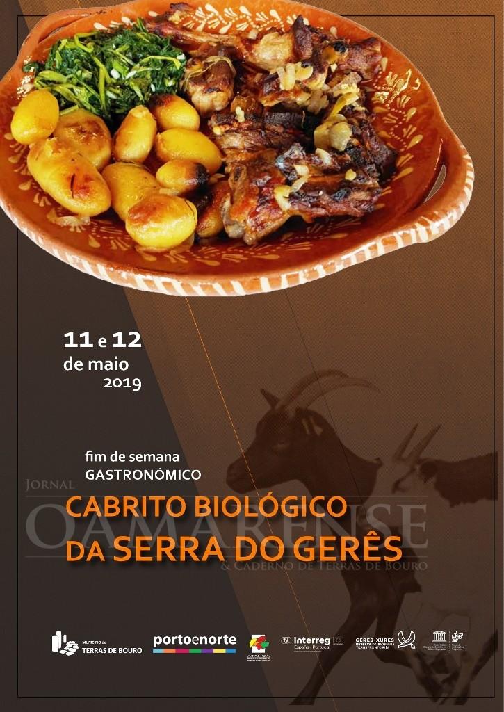 TERRAS DE BOURO - Fim-de-semana Gastronómico do Cabrito Biológico da Serra do Gerês nos dias 11 e 12 de Maio
