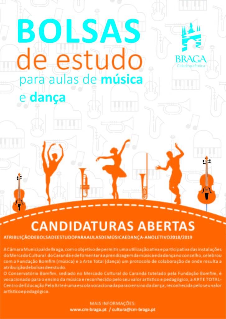 BRAGA - Câmara de Braga atribui Bolsas de Estudo para aulas de Dança e Música