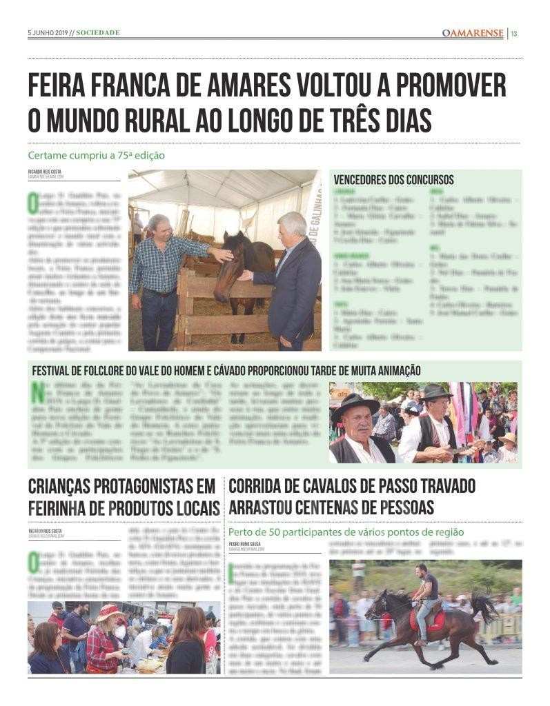 EDIÇÃO IMPRESSA – Feira Franca de Amares voltou a promover o mundo rural ao longo de três dias