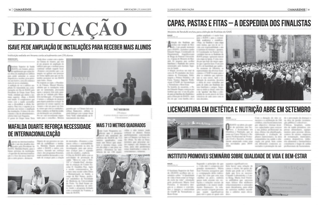 EDIÇÃO IMPRESSA – ISAVE pede ampliação de instalações para receber mais alunos