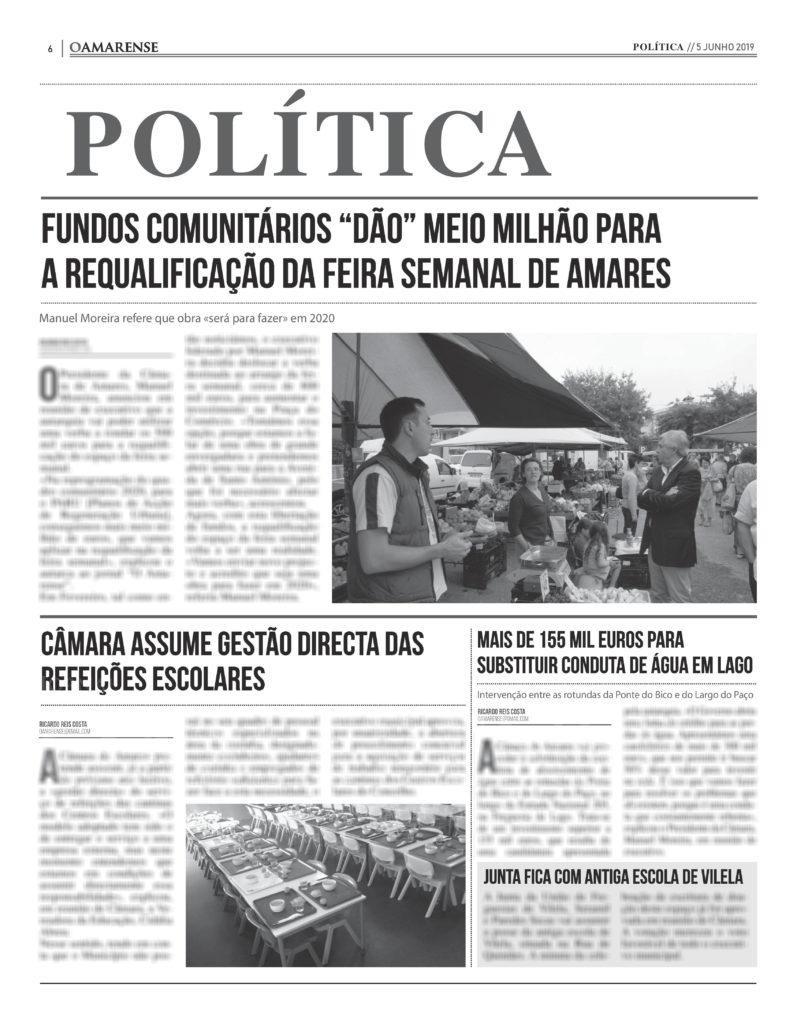 """EDIÇÃO IMPRESSA – Fundos comunitários """"dão"""" meio milhão para a feira semanal de Amares"""