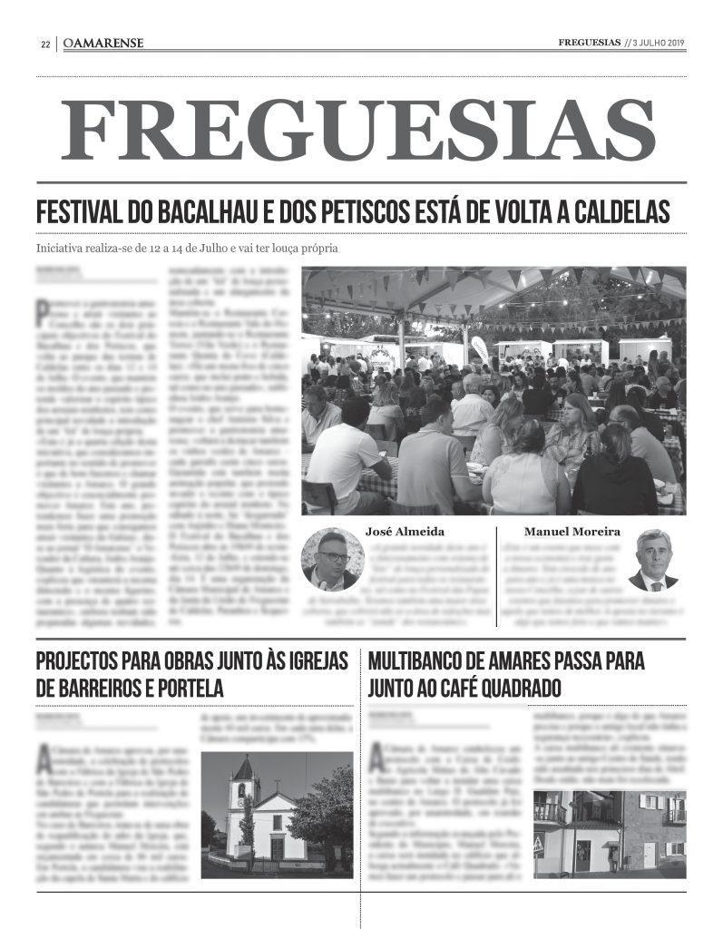EDIÇÃO IMPRESSA – Festival do Bacalhau e dos Petiscos está de volta a Caldelas