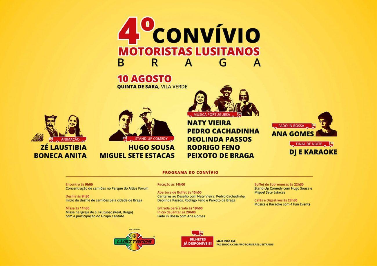 REGIÃO - 4º Convívio dos Motoristas Lusitanos no dia 10 de Agosto