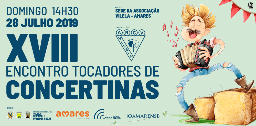 AMARES - XVIII Encontro de Tocadores de Concertinas no dia 28 de Julho