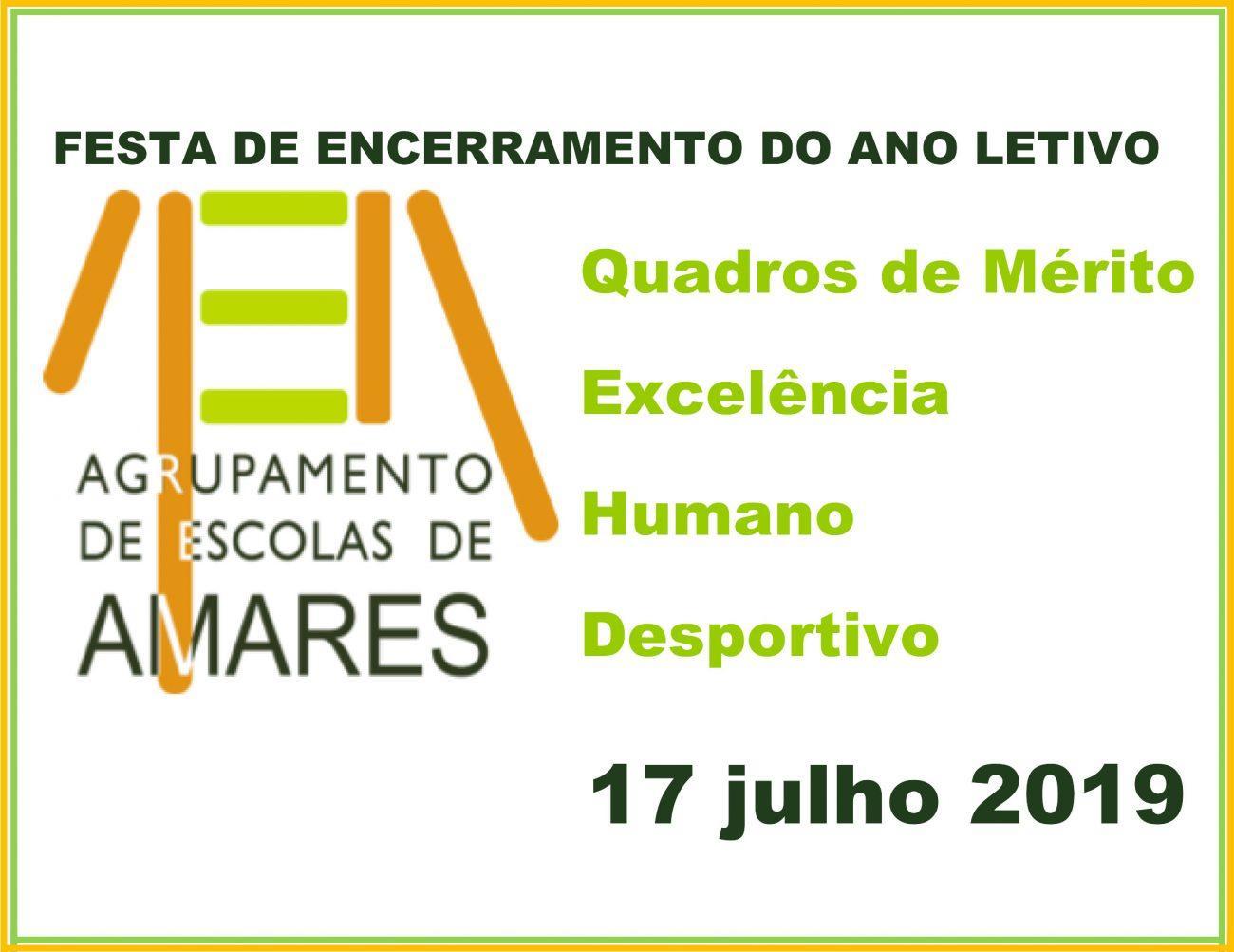EDUCAÇÃO – AE de Amares promove festa de encerramento do ano lectivo no dia 17 de Julho