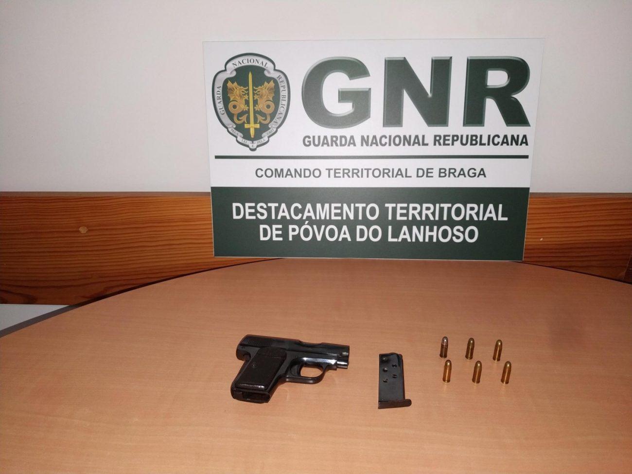 CRIME – GNR de Amares apreende arma a homem suspeito de violência doméstica