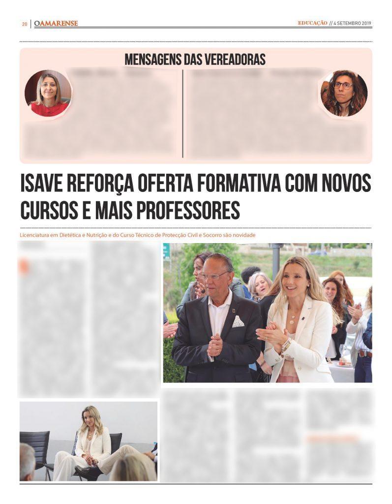 EDIÇÃO IMPRESSA – ISAVE abre novo ano com novos cursos e mais professores