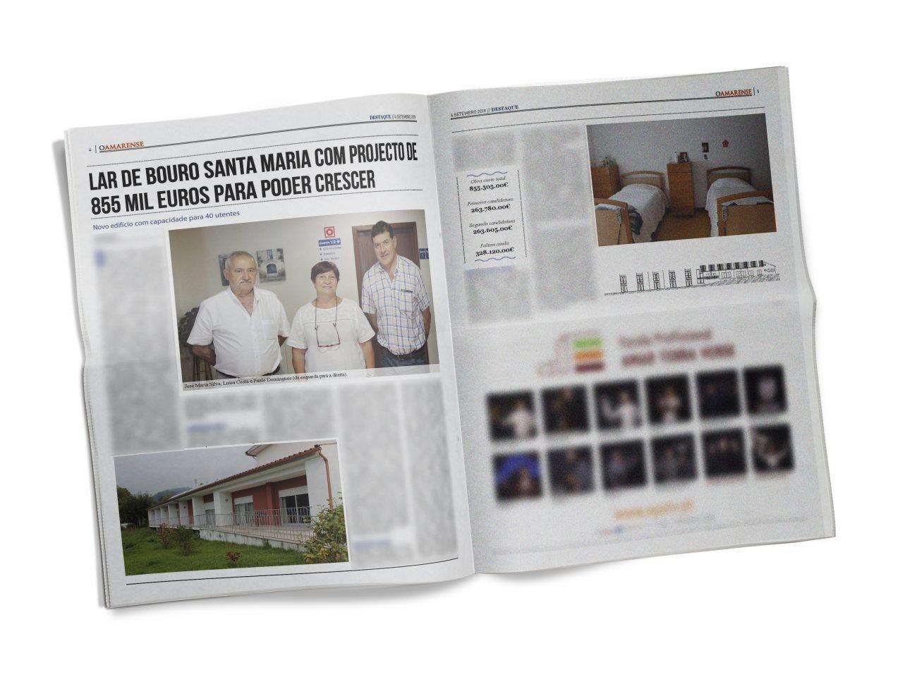 EDIÇÃO IMPRESSA – Lar de Bouro Santa Maria com projecto de 855 mil euros para crescer