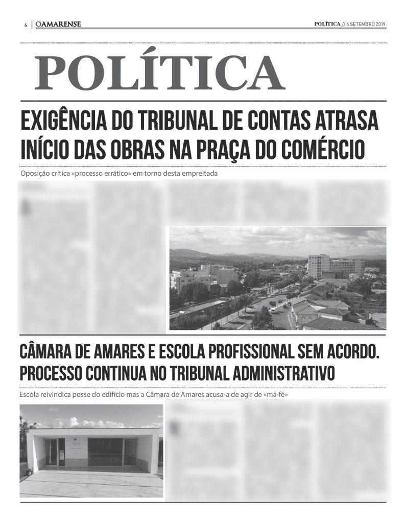 EDIÇÃO IMPRESSA – Exigência do Tribunal de Contas atrasa início das obras na Praça do Comércio