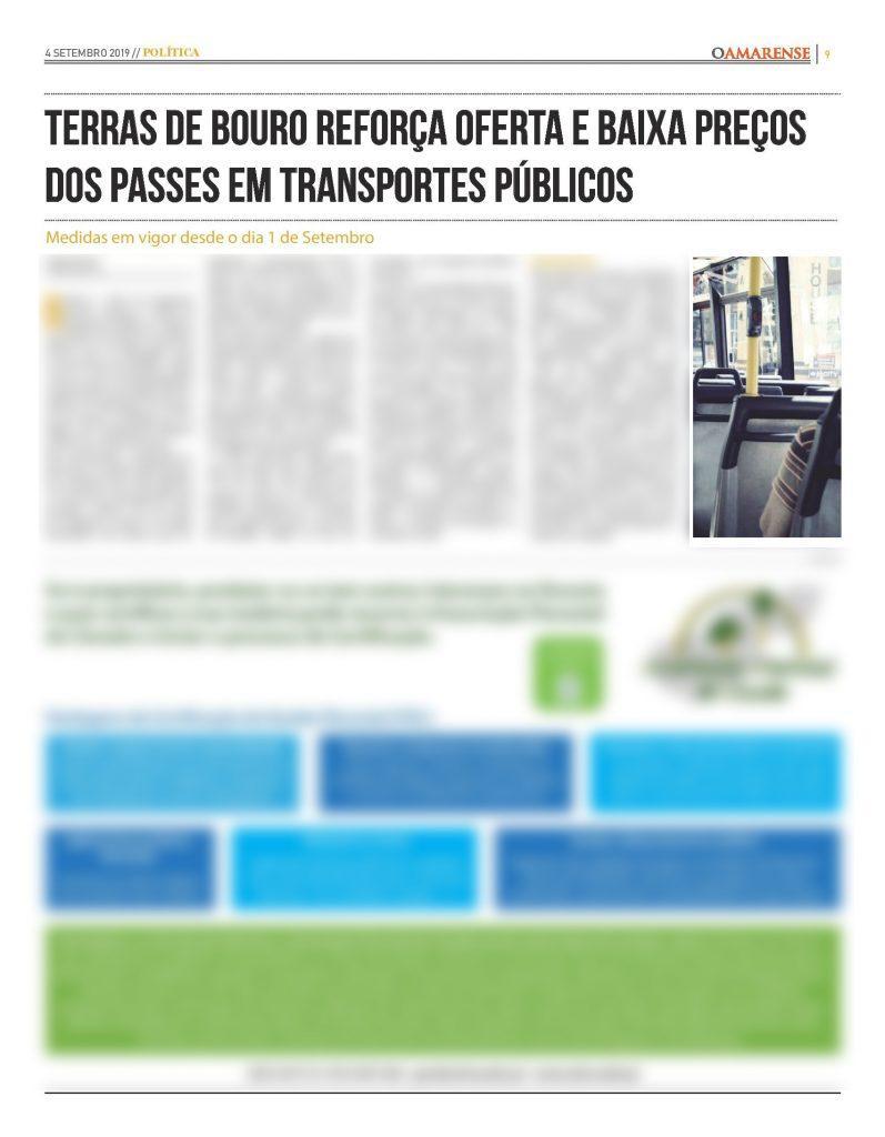 EDIÇÃO IMPRESSA – Terras de Bouro reforça oferta e baixa preços dos passes em transportes públicos