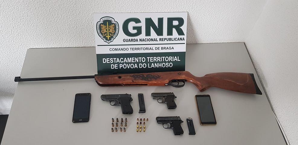 AMARES – GNR de Amares apreende armas a suspeito de violência doméstica
