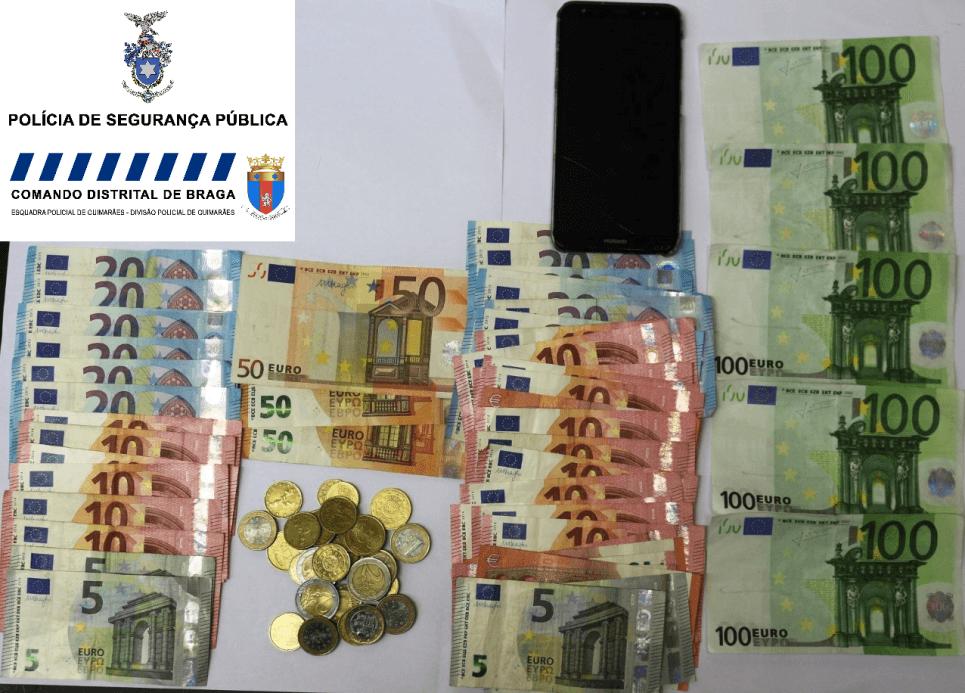 CRIME - Duo pagava com nota falsa de 100 euros e ficava com o troco