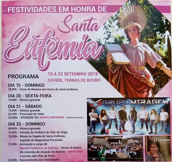 TERRAS DE BOURO - Covide assinala Santa Eufémia até 22 de Setembro