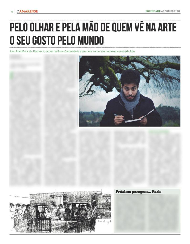 EDIÇÃO IMPRESSA – Entrevista a João Abel Mota: Pelo olhar e pela mão de quem vê na Arte o seu gosto pelo Mundo