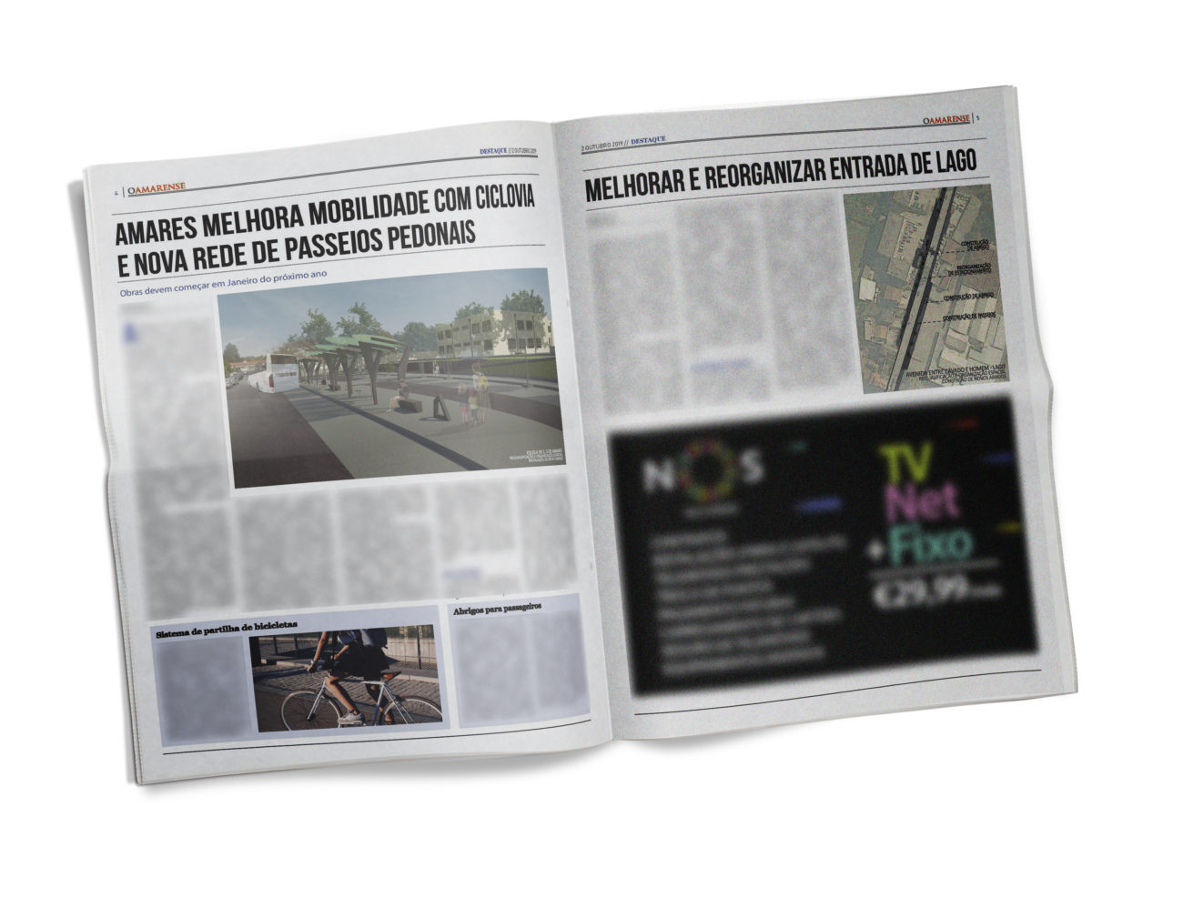 EDIÇÃO IMPRESSA – Amares melhora mobilidade com ciclovia e nova rede de passeios pedonais