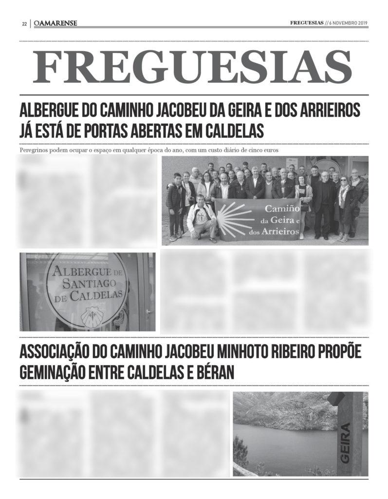 EDIÇÃO IMPRESSA – Albergue do caminho Jacobeu da Geira e dos Arrieiros já está de portas abertas