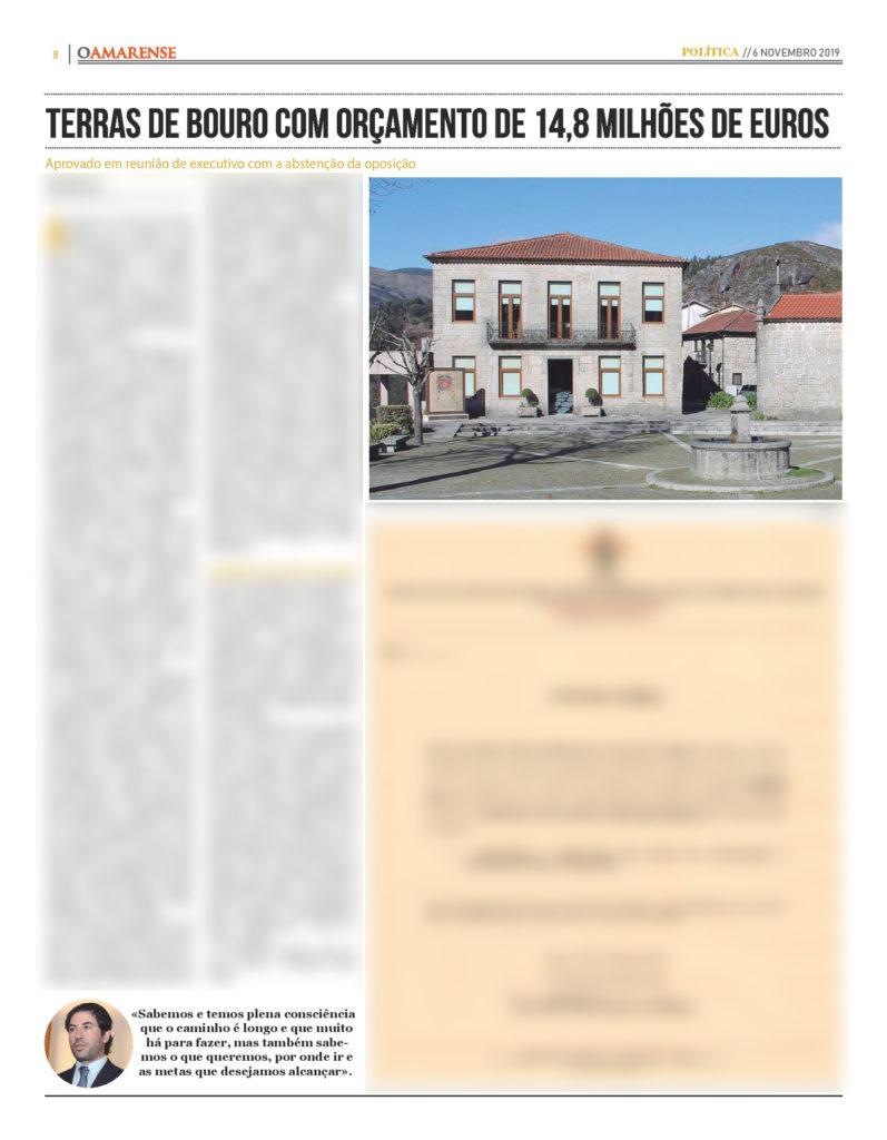 EDIÇÃO IMPRESSA – Terras de Bouro com orçamento de 14,8 milhões de euros