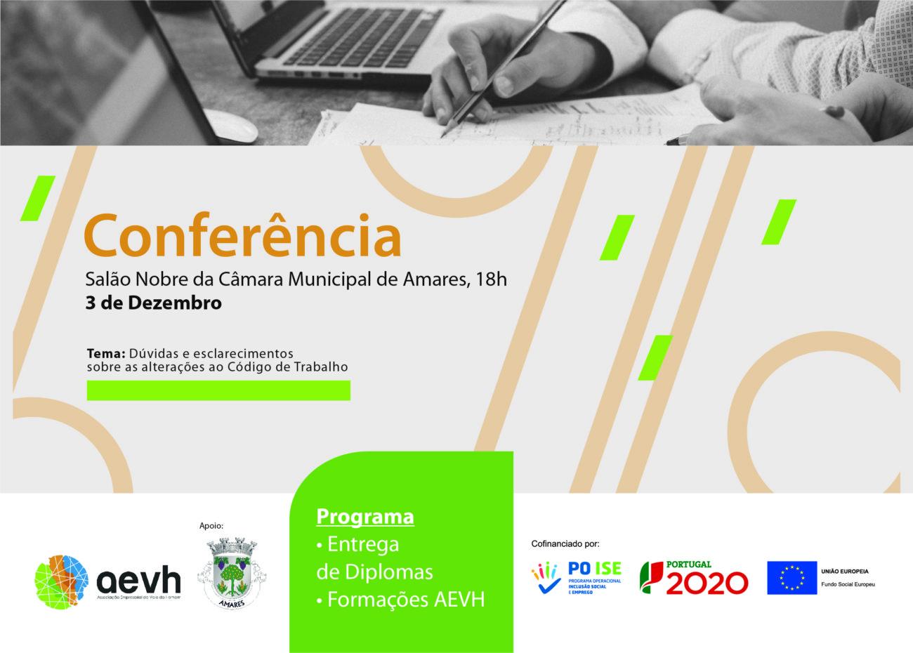 AMARES - AEVH promove conferência sobre as alterações ao Código do Trabalho em Amares