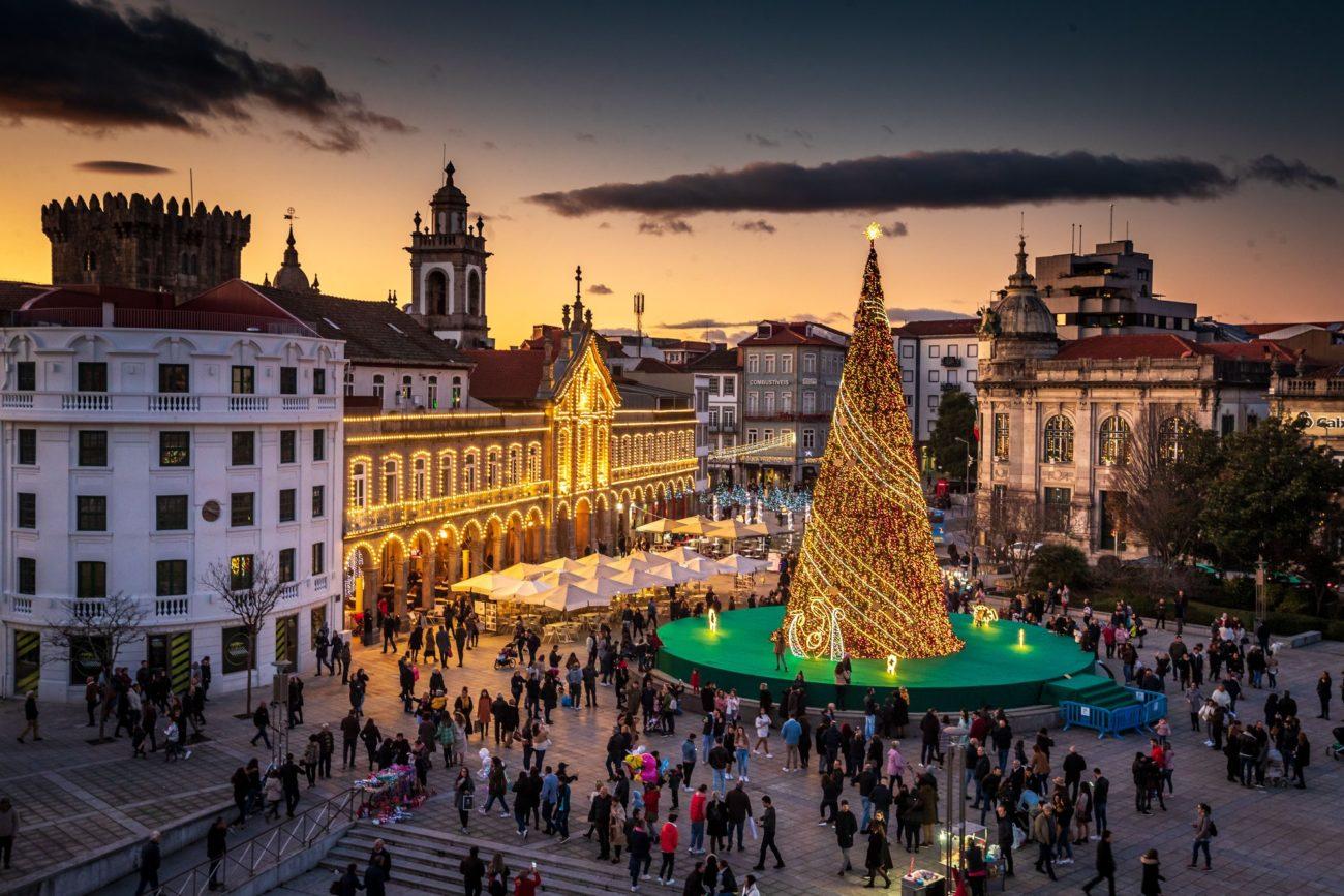 BRAGA - Decorações de Natal de Braga em votação para melhor do país
