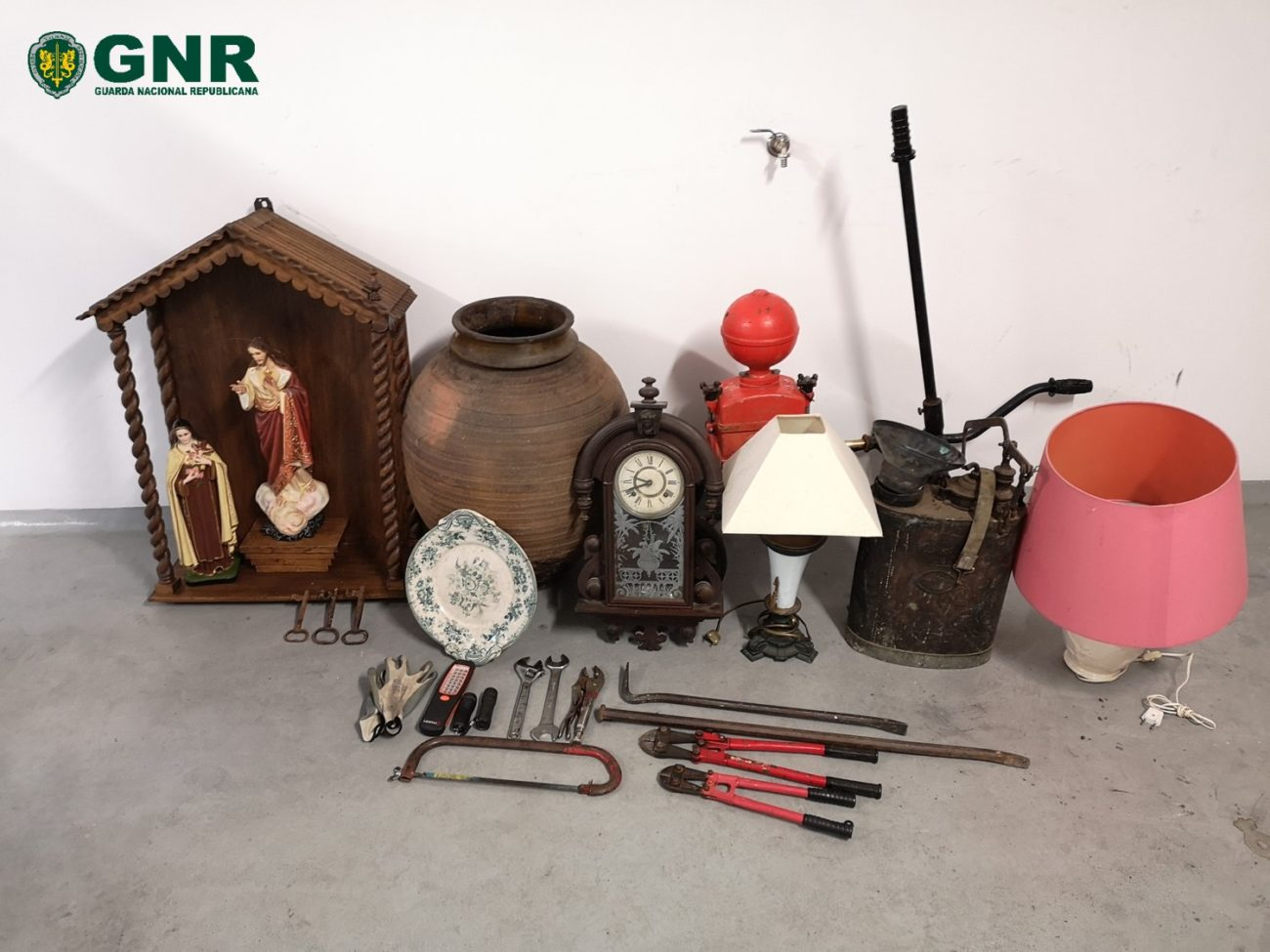 REGIÃO – GNR recupera antiguidades e peças de arte sacra furtadas