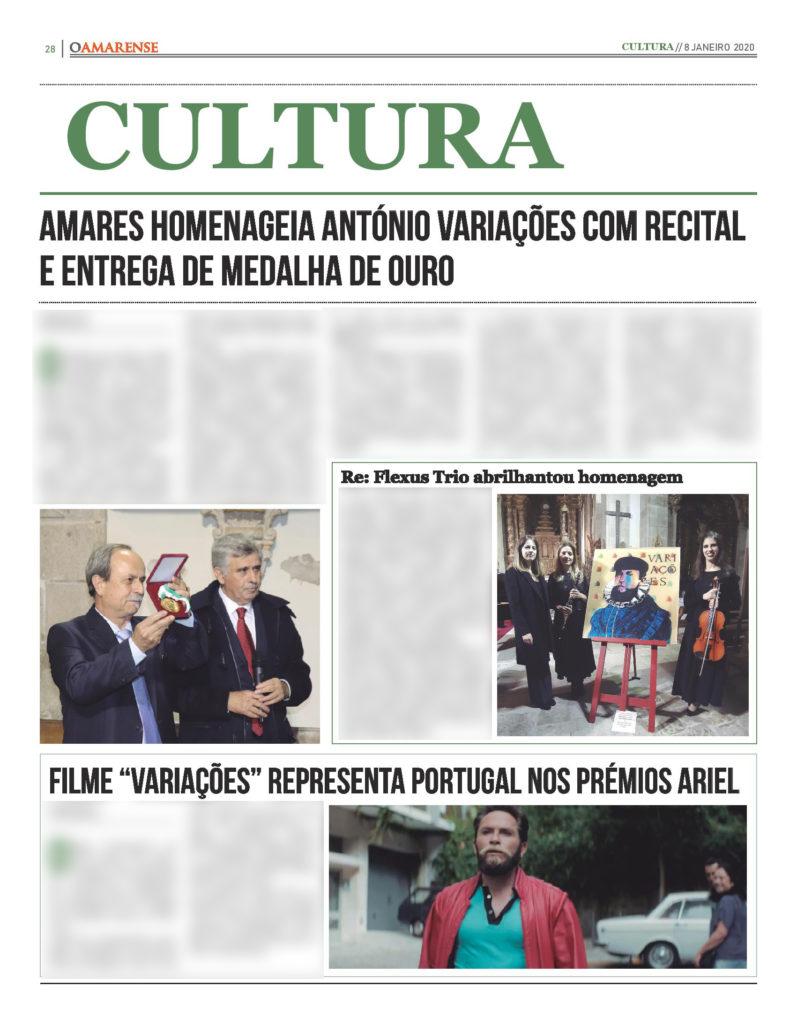 EDIÇÃO IMPRESSA – Amares homenageia António Variações com recital e entrega de medalha de ouro