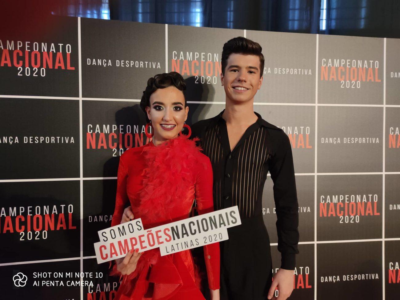 BRAGA - Tiago Ferreira e Francisca Almeida, da Bracara Team, sagraram-se campeões nacionais de Danças Latinas e Danças Standard