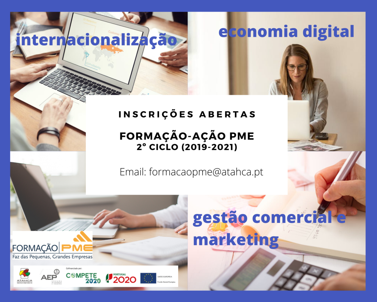 REGIÃO - Inscrições abertas para Programa de Formação PME 2º Ciclo (2019-2021)