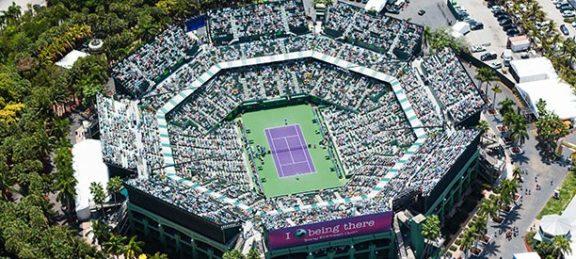 Le Crandon Park Tennis Center à Key Biscayne où se joue le Miami Open depuis 1987
