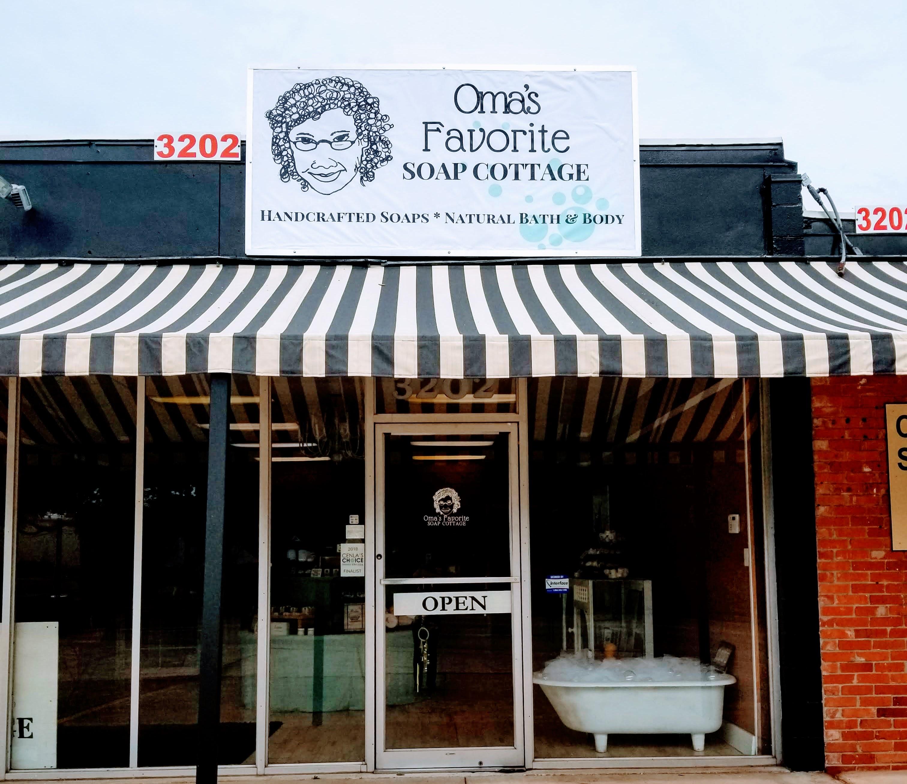 Oma's Favorite Soap Cottage Storefront