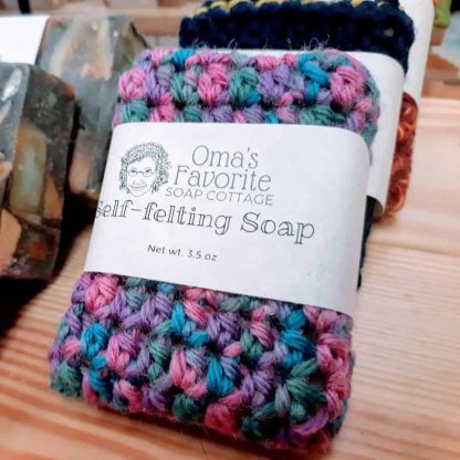 Self-felting soap