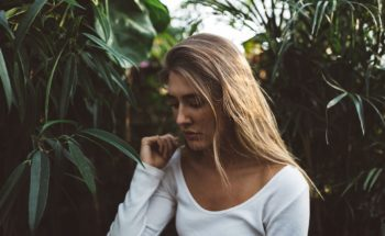 Depression self treatment may help this sad lady