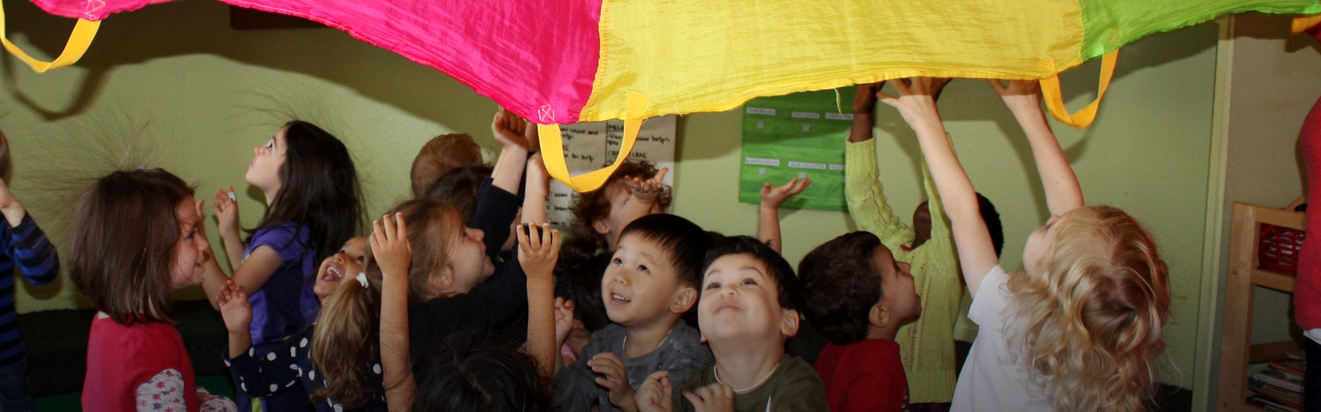Group of preschool children playing in daycare