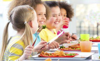 Happy Children Eating