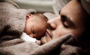 Dad and Baby Sleeping