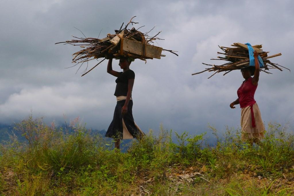 Women in Uganda Carrying Firewood