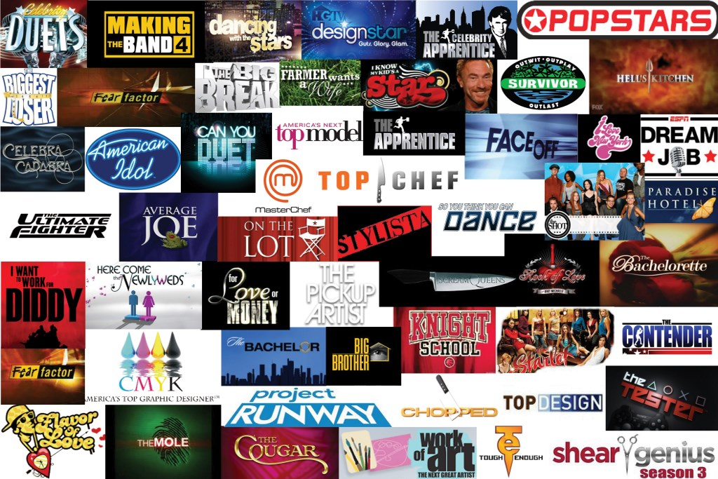 Reality TV Logo Collage