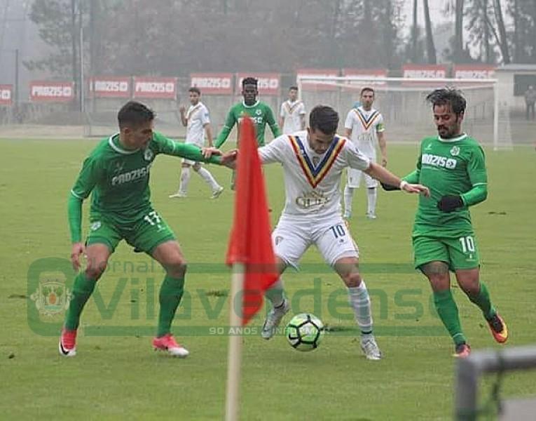 FUTEBOLVilaverdense FC deixa dois pontos em Arcos de Valdevez