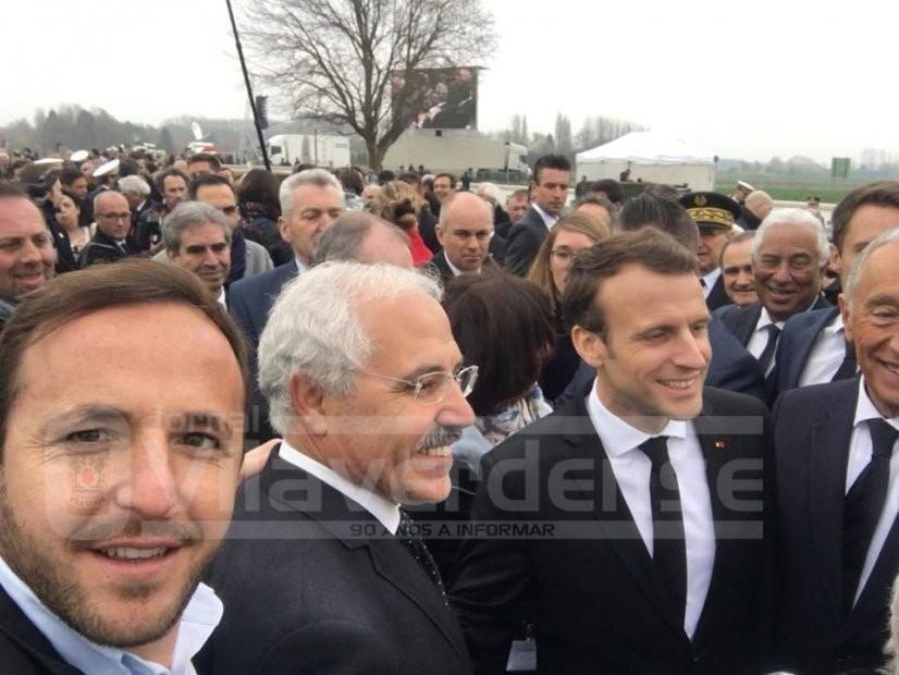 EM FRANÇAAntónio Vilela, Marcelo e Macron na homenagem aos combatentes da Batalha de La Lys