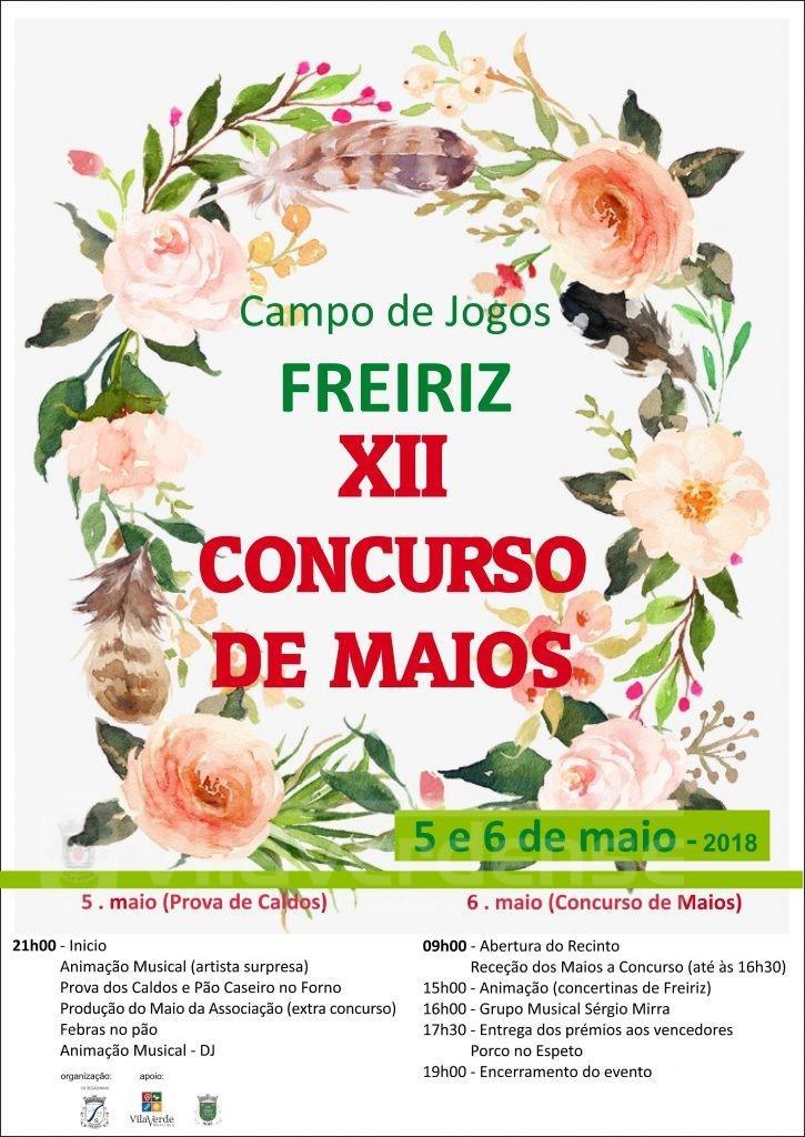 """DIAS 5 e 6 DE MAIO""""Concurso de Maios"""" em Freiriz já vai para a XII Edição"""